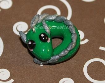 Green Dragon Chibi Phone Charm