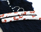 Padded Hangers for Babies / Toddlers. Foxes. Set of Two.