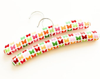 Padded Hangers for Babies / Toddlers. Butterflies. Set of Two.