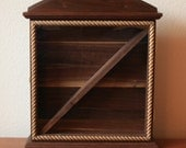 Walnut Flag Display Case
