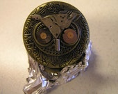 Reserved for BeautyisintheJourney Steampunk Owl Pocket Watch by Gates of Obrillin