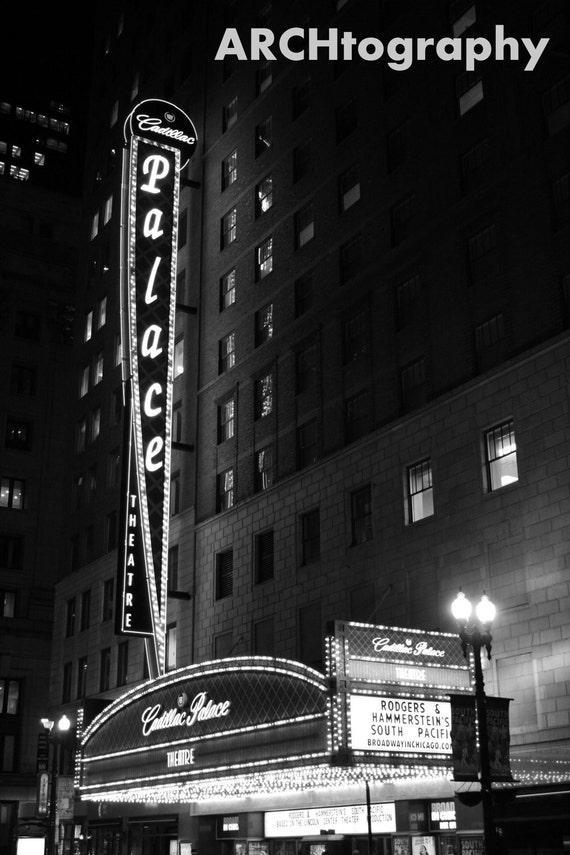cadillac palace theatre chicago by archtography on etsy. Cars Review. Best American Auto & Cars Review