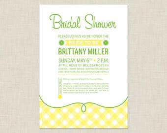 Lemon Bridal Shower Invitation / Summer Bridal Shower