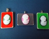 Resin Cameo 3D Rummikub Game Piece Pendant on voile necklace with gift bag - Take your pick