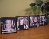 Mothers Day Gifts PERSONALIZED Photo Blocks Gifts for Mimi, Grandma, Mom, Dad Gifts Picture Blocks- ANY Custom Saying - Set of 4 Blocks