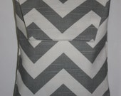 GRAY and WHITE CHEVRON stripe Diaper and Wipes Holder/ Case