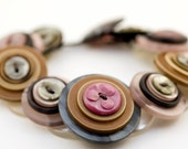 Upcycled 'Chaffy' button bracelet by Shufflewing