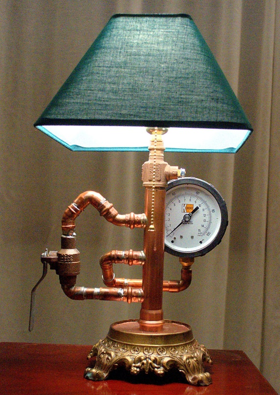 Items similar to cool steampunk industrial lamp on etsy for Cool diy lamps
