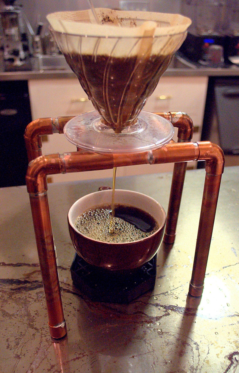 Mike 39 S Blog Here Are My Steampunk Coffee Pour Over Stands