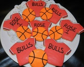 NBA Chicago Bulls Basketball Cookies 1 Dozen