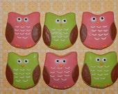 Cute Owl Cookies One  Dozen
