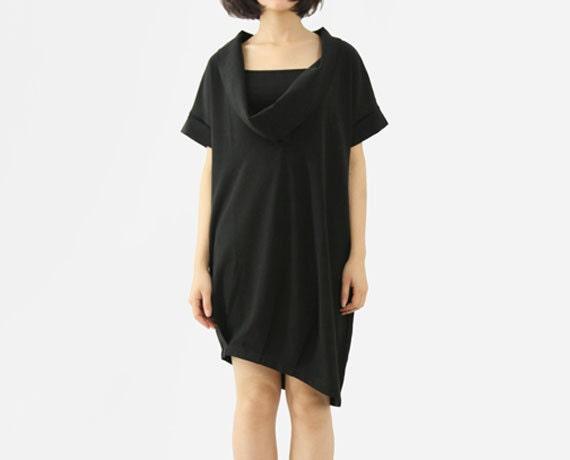 Black Dress Womens Dresses Sexy Dress Classic Dress Summer Dress With Especial Big Collar