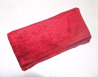 13- red clutch bag