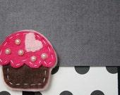 Cupcake - Felt Clip or Headband