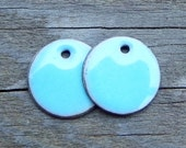 Pkg of 2 enameled copper discs approx 1/2'' or 12mm in diameter/color choice