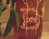 Suncatcher Intertwined Initials or Cipher Wire Swarovski Crystal