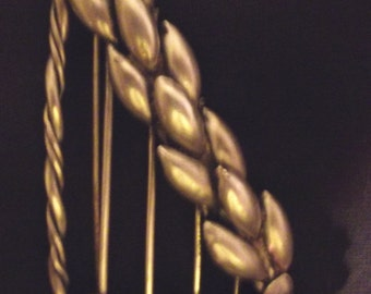 Brooch Coro Vintage Sterling Silver Harp Big Bold Unusual Uncommon Vintage Find Signed