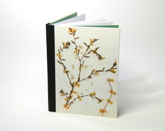 Notebook bound school notebook (lined) print of dried plants: Polygonum