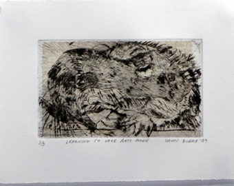 Learning To Love Rats More copperplate print on paper - State 5, Edition 3
