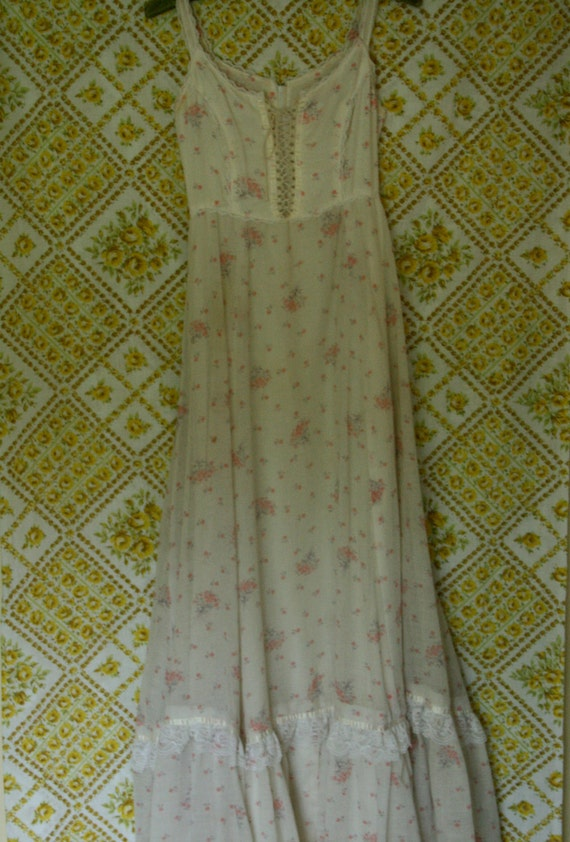 1970s Sleeveless Prairie Maxi Dress
