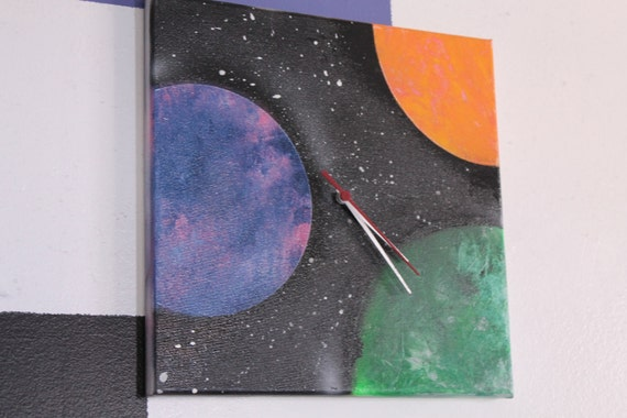 Galaxy Outer Space Wall Clock (With Planets)