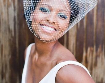 Russian veiling  full voluminous  birdcage bridal veil Vixen #189VB