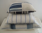 FRENCH VINTAGE grain sack   pillows.cushions vintage french TICKING