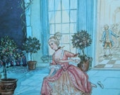 A Classic Cinderella Picture  from the 1969 Tasha Tudor Book of Fairy Tales