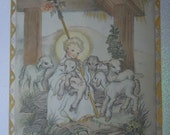 Father We Thank Thee,  A Vintage Lithograph From the 1941 Edition of a Child's Book of Prayers,  Illustrated by Masha