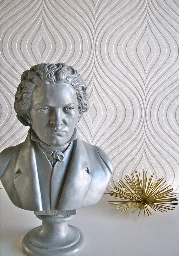 Beethoven Bust Statue in gray