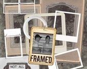 Digital Scrapbook Kit - FRAMED - 85 items