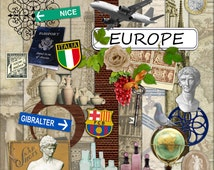 Digital Scrapbook Kit - Europe - Vacation - Travel - Huge Mega Kit 1.6 GB