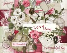 Love Story - Digital Scrapbook Kit