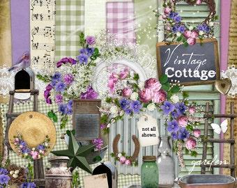 Digital Scrapbook Kit - Vintage Cottage