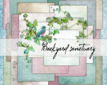 Backyard Sanctuary Paper Set - Digital Scrapbooking