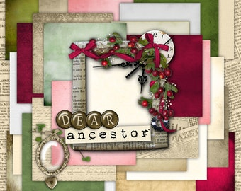 Dear Ancestor Paper Set - Digital Scrapbooking