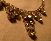 Stunning Vintage rhinestone necklace - 1950s chic to wear or for supply