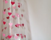 Paper garland pink ombre sweet hearts - 3 metre (9.8 ft) Help Breast Cancer Research - party home decor