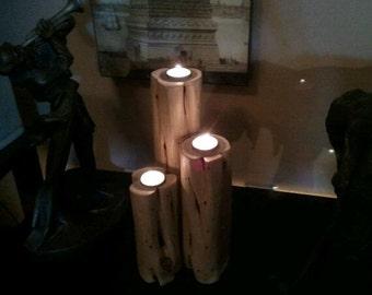 Texas Cedar Tea Light Candle Tower