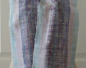Hand woven silk scarf - CORNFLOWER - Reserved for Barbara