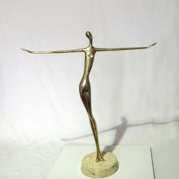 Metal Sculpture, Nude (abstract), Gold tone Overlay