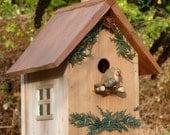 Country Cabin Birdhouse, Cedar Woodlands Model