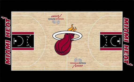 Nba Basketball Miami Heat Bedroom In: Items Similar To Miami Heat CUSTOM NBA Mini Basketball
