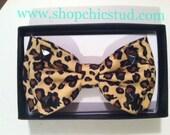 Studded Bowtie Leopard Print