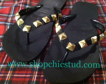 Studded Flip Flop Havaianas Sandals Custom Made ANY SIZE