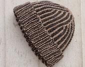 Earnestland wool silk stripey hats