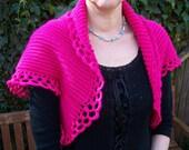 Women Crochet Bolero/Shrug/Capelet, Crochet bolero, Cyclamen bolero, Fushia, Pink Bolero, Handcrocheted Bolero