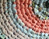 Crochet Rag Rug Southern Peaches Cottage Chic Eco Friendly Nursery