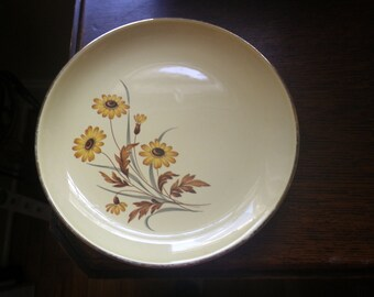 Side Plates Sweet Pair of Vintage Yellow Black-Eyed Susan China Perfect Gift Cottage Shabby Chic