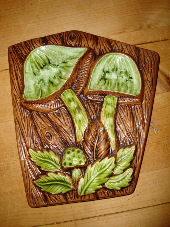 Treasure Craft Mushroom Wall Hanging Plaque Spoon Rest with Free Shipping